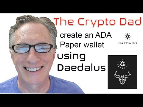 Creating a Paper Wallet for your Cardano (ADA) using Daedalus