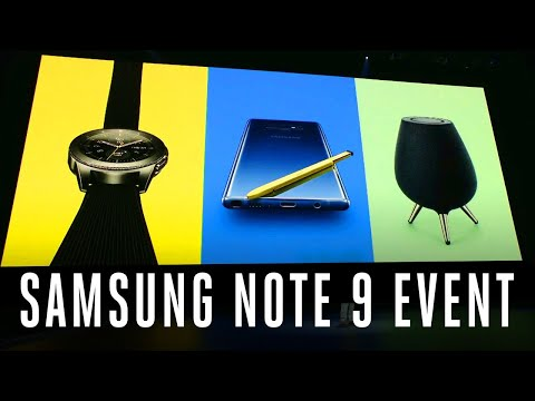 Samsung Galaxy Note 9 event in 11 minutes