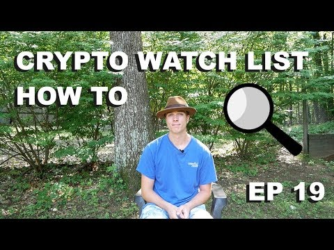 "Craving Crypto EP 19 ""How to Make a Cryptocurrency Watch-list"""