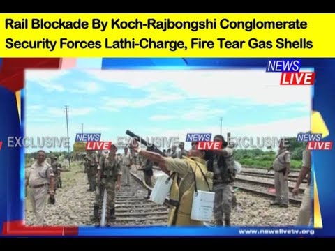 Police baton-charge protesters, fire tear gas shells during Koch-Rajbongshi protest