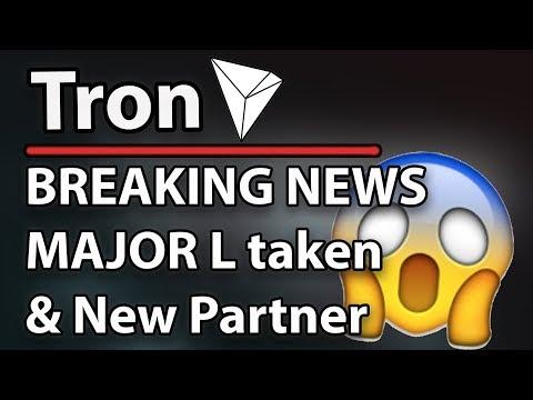 Tron (TRX) Breaking News – Major L, New Partnership & uTorrent Elected!