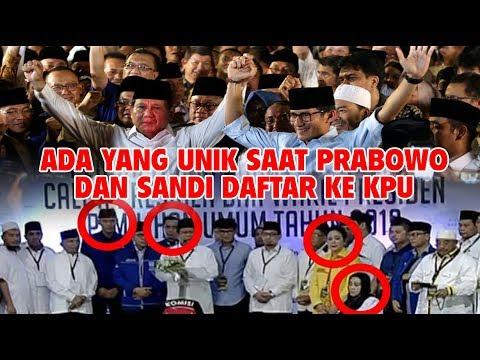 Ada yang Unik! Detik-Detik Prabowo – Sandi Daftar ke KPU ( FULL )
