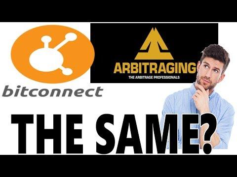 ARBITRAGING- Same as BITCONNECT?