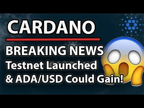 Cardano (ADA) Breaking News – Testnet Launched & ADA/USD Could Gain Momentum!