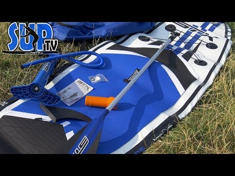 STX Race 12'6″ wide (2018): Auspacken und Vorstellung des Lieferumfangs vom Touring-iSUP
