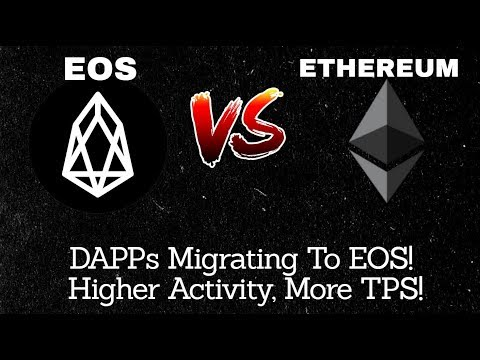 EOS Vs ETHEREUM | DAPPs Migrating To EOS, Higher Activity, More TPS! | TIME TO BUY?!