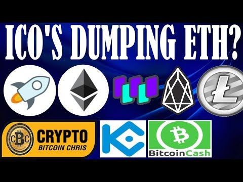 Selloff: ICO's are dumping ETH! – 8 Projects on Stellar XLM! – Kucoin's twitter restricted –
