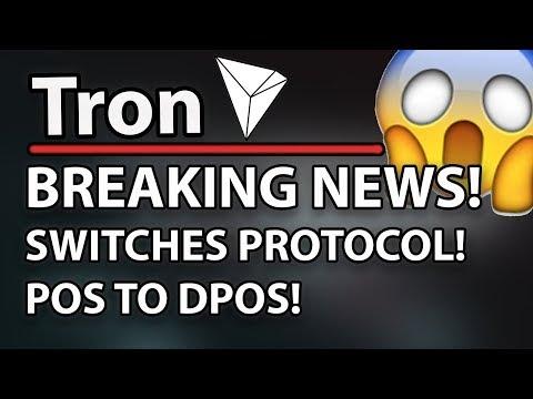 Tron (TRX) Breaking News – Switches Protocol! PoS to DPoS!