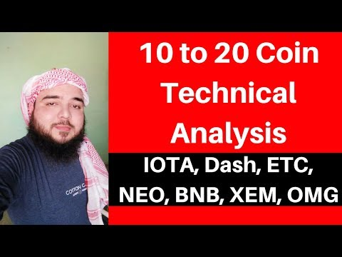 Top 10 to 20 AltCoin Technical Analysis – IOTA, Dash, ETC, NEO, BNB, XEM,- Bitcoin & Altcoin Update