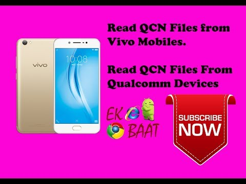 Read QCN File from all Qualcomm CPU Mobiles