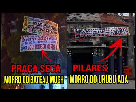 ? FAIXAS PARA COIBIR ROUBOS SÃO COLOCADAS NO MORRO DO URUBU ADA