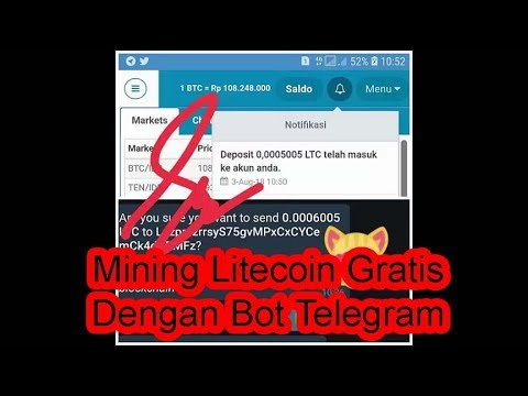 Mining Litecoin Gratis Dengan Bot Telegram