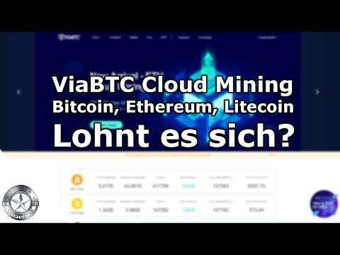 ViaBTC Bitcoin Ethereum Litecoin Cloud Mining August 2018