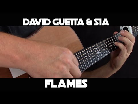 Kelly Valleau – Flames (David Guetta & Sia) – Fingerstyle Guitar