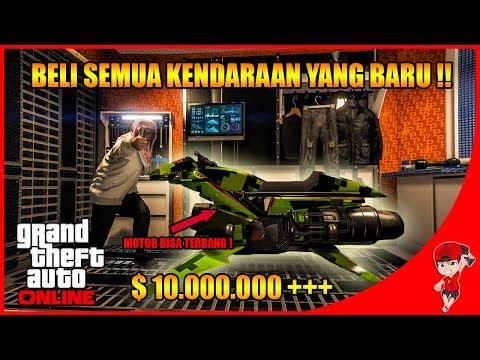 GTA V ONLINE (7) – BELI SEMUA KENDARAAN ADA MOTOR TERBANG & DRONE !!