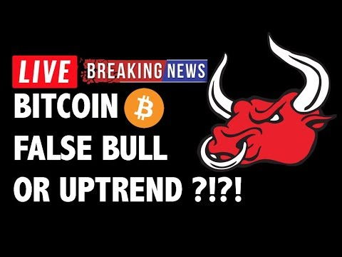 False Bull Rally or Uptrend for Bitcoin (BTC)?! – Crypto Trading & Cryptocurrency Price News