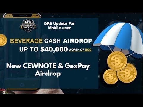 40,000$ Worth of Beverage Cash Airdrop , (DFS Solution) CewNote Airdrop Don't Miss