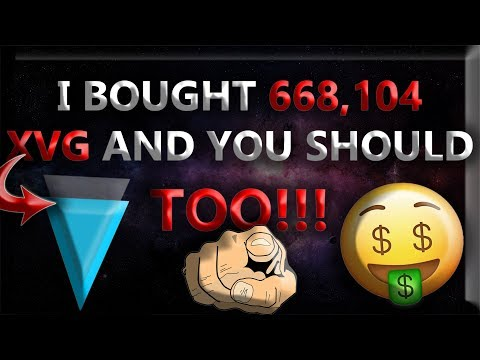 I BOUGHT 668,104 VERGE [XVG] AND YOU SHOULD TOO!!! *Leaked XVG News!* $1.87 XVG Soon!?!