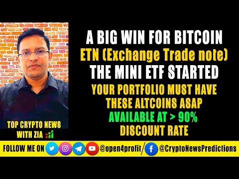 🔥 A Big WIN for Bitcoin – ETN (Exchange Traded Note) Started Before ETF. Atlcoins at 90% Discount