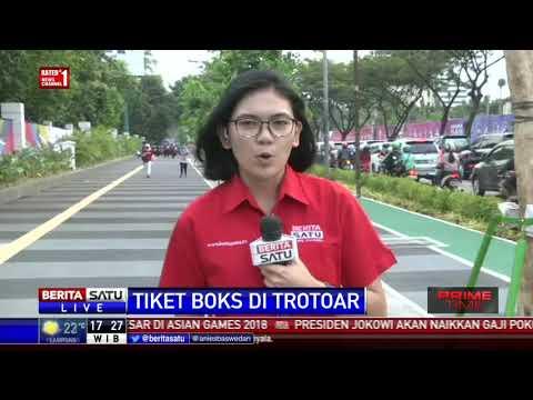 Tiket Box Ada di Trotoar di Kawasan GBK