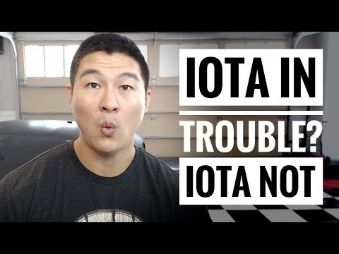 Is IOTA in Trouble? – Or Just Human Variables that Don't Mean Much?