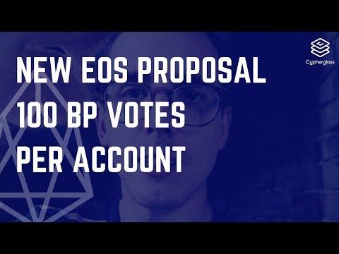 New EOS Proposal: 100 BP votes per account
