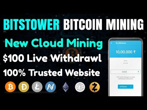 BitsTower   REVIEW   $100 Live Withdrawl Proof 10% Daily   BitsTower New Bitcoin mining Cloud 2018