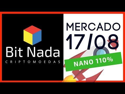 Mercado de Cripto! 17/08 Mercado Explode! / NANO +110% / XVG +30%