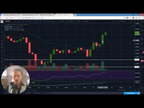 Bitcoin Ethereum Binance EOS Technical Analysis Chart 8/17/2018 by ChartGuys.com