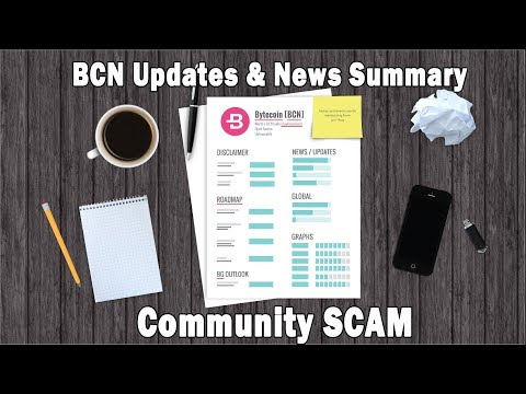 Bytecoin Guru- BCN Updates & News Summary & Community SCAM