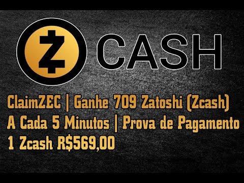 ClaimZEC | Ganhe 709 Zatoshi (Zcash) A Cada 5 Minutos | Prova de Pagamento | 1 Zcash R$569,00