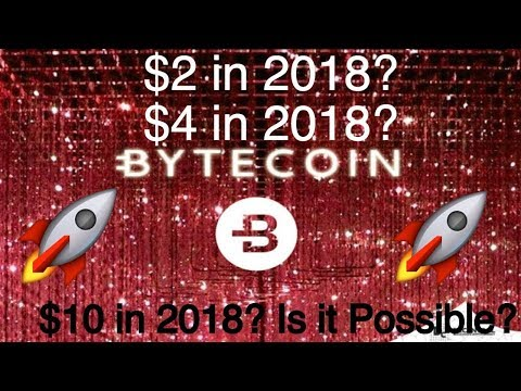 Bytecoin Price Prediction & Analysis($1 in 2019?)
