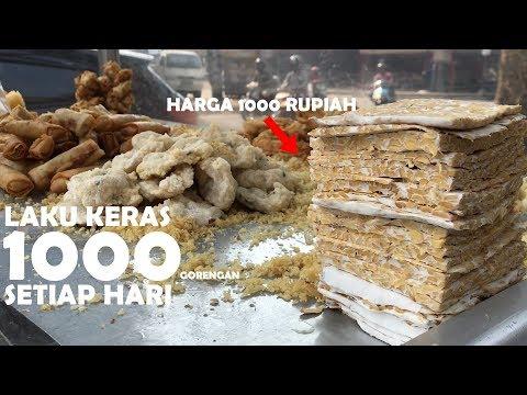 SEHARI 1000 GORENGAN LUDES !! ADA YANG BISA NGALAHIN CRISPY NYA ? | PONTIANAK STREET FOOD #380