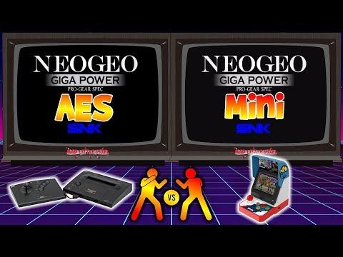 Neo Geo Mini Versus The AES! Graphics & Audio Comparison! 🎮