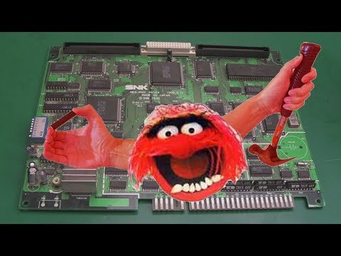 SNK Neo Geo MVS Junk Board Repairs Part 3 (MV-1AX BIOS Repair – Fixing Muppet Damage)