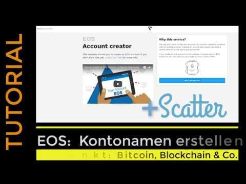 Tutorial: EOS Kontonamen / Account name erstellen