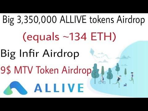 3,350,000 ALV tokens (equals ~134 ETH) | Infir Airdrop | 9$ MTV token | free ico token