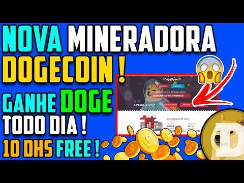 SAIU ! Nova Mineradora Dogecoin | 10 DHS FREE + CryptoLuc SCAM !