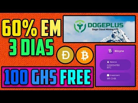 2 Novas Mineradoras de BTC e Doge | 60% em 3 Dias + Prova de Pagamento DogeSpeed!