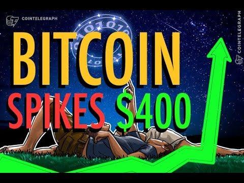 Bitcoin spikes $400 – Liechtenstein Bank Issues Crypto Stable Coin – 'Blockchain Investment Bank'