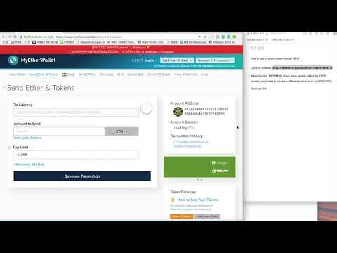 How to add YEED token – MyEtherWallet
