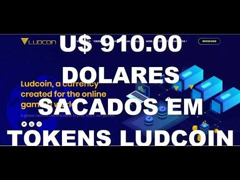 ICO LUDCOIN SAQUE DE U$ 910.00 SACADOS EM TOKENS PARA MYETHERWALLET