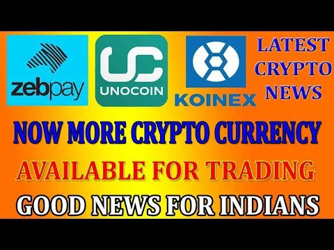 Latest Crypto News: Koinex, Zebpay, Unocoin launches new coins for trading | Good News for Indians