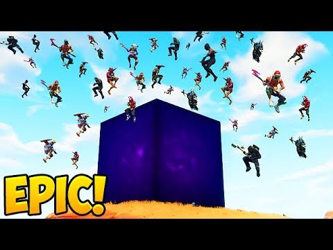 100 Players Land *NEW* LIGHTNING CUBE! – Fortnite Funny Fails and WTF Moments! #300