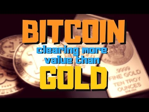 Bitcoin clearing more value than gold!
