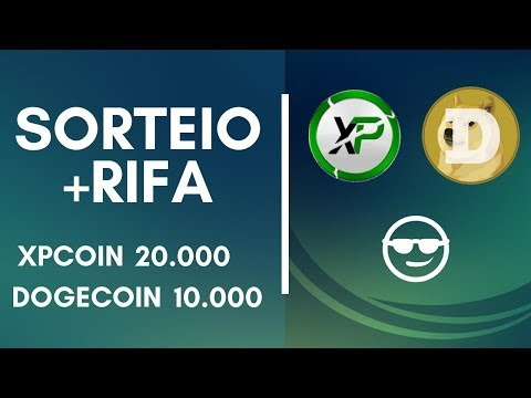 SORTEIO DA RIFA 10.000 DOGECOIN + SORTEIO 20.000 XPCOIN