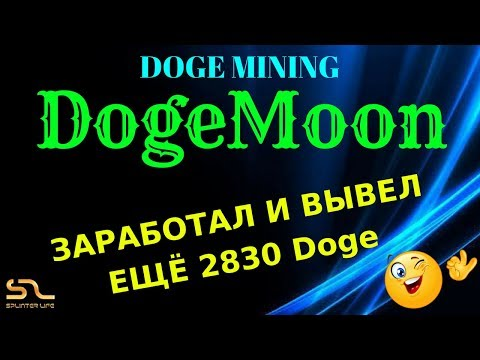 ЗАРАБОТАЛ ЕЩЁ 2830 Doge В #DogeMoon – МАЙНИНГ Doge