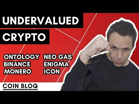 Undervalued Cryptocurrencies: Ontology, ICON, Monero, NEO Gas, Enigma, Binance Coin.