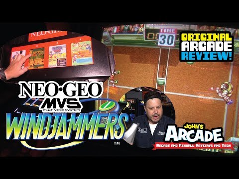 Windjammers (Flying Disc) Arcade Review – Original NEO GEO MVS Arcade Game