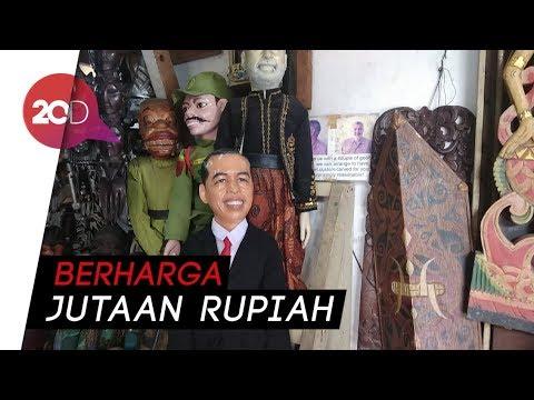 Wow! Ada Wayang Jokowi di Pasar Barang Antik